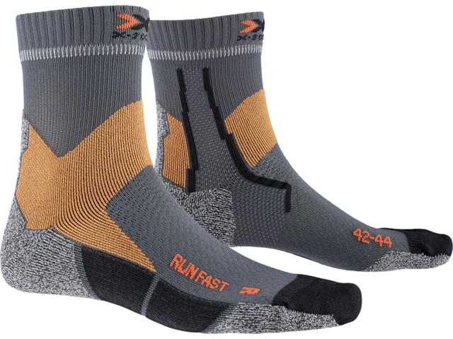 X-Socks Run Fast Strømper, pearl grey/sunset orange